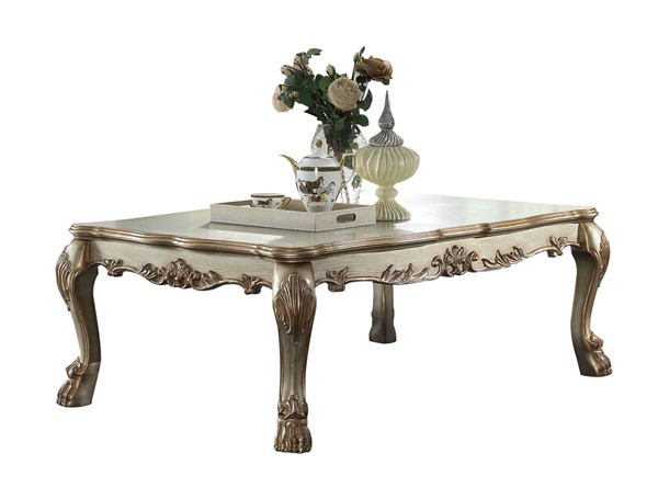 Acme Furniture Dresden Gold Patina Rectangle Coffee Table ACM-83160