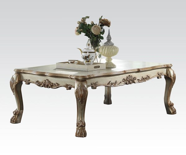 Dresden Gold Patina Wood Coffee Rectangle Table ACM-83160