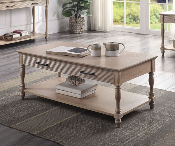 Acme Furniture Ariolo Antique White Coffee Table ACM-83220