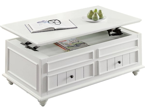 Acme Furniture Natesa White Washed Coffee Table with Lift Top ACM-83325