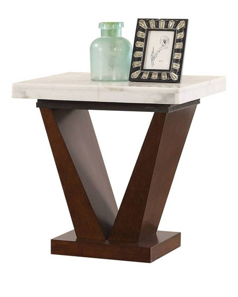 Acme Furniture Forbes White Walnut End Table ACM-83337