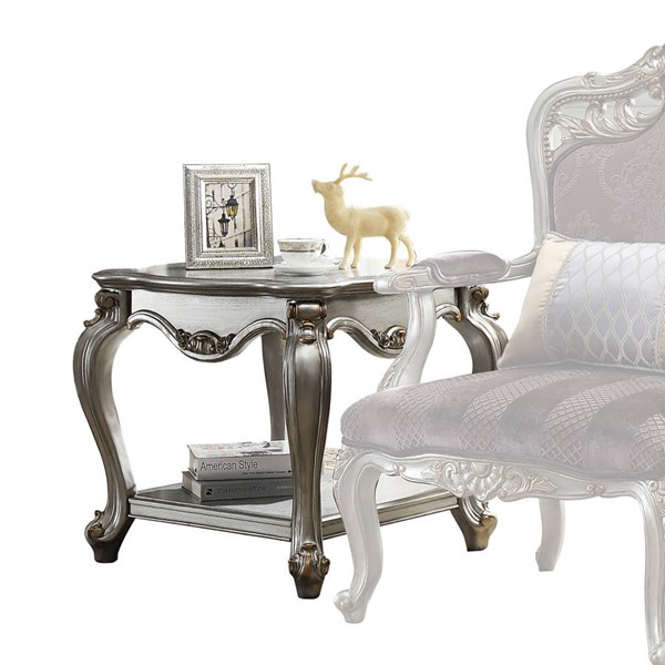 Acme Furniture Picardy Antique Platinum End Table ACM-83467