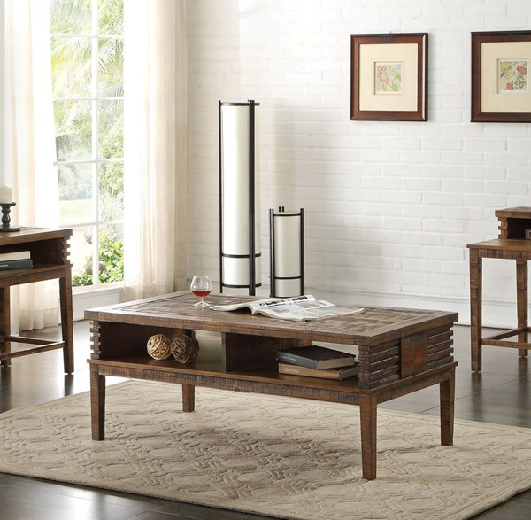 Acme Furniture Andria Reclaimed Oak Storage Coffee Table ACM-83660