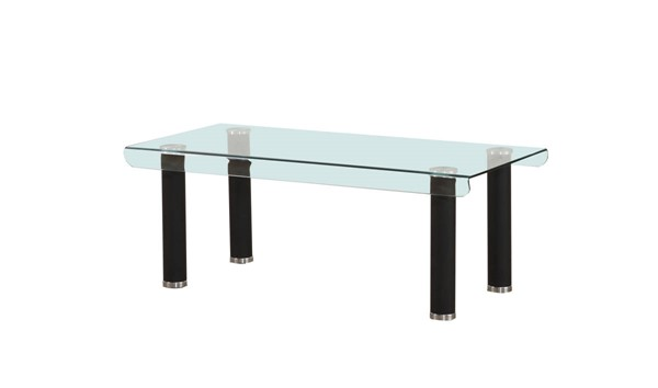 Acme Furniture Gordie Black Clear Coffee Table ACM-83685