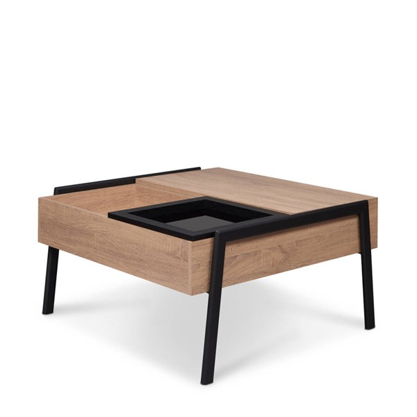 Acme Furniture Fakhanu Natural Black Coffee Table ACM-83885