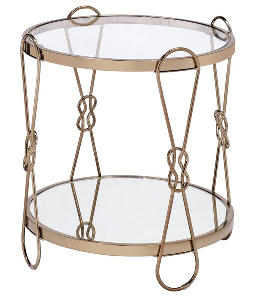 Acme Furniture Zekera Champagne Metal Mirror End Table ACM-83942