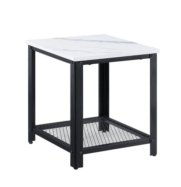 Acme Furniture Taurus White End Table ACM-83967