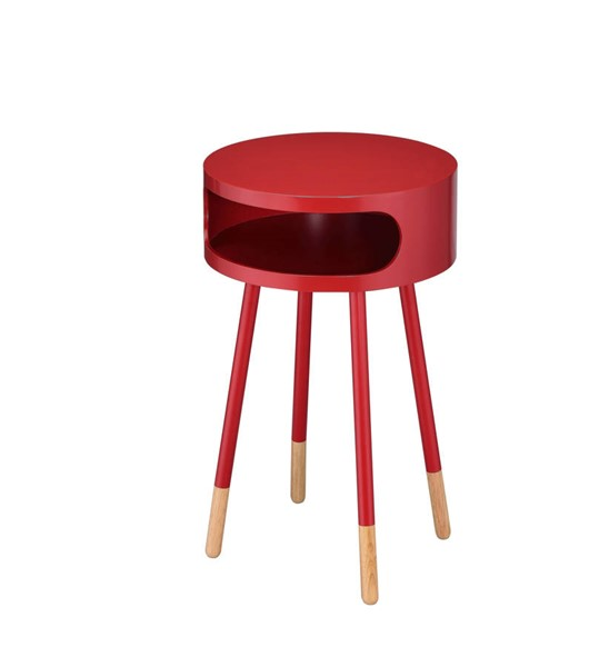 Acme Furniture Sonria Red Natural End Table ACM-84446