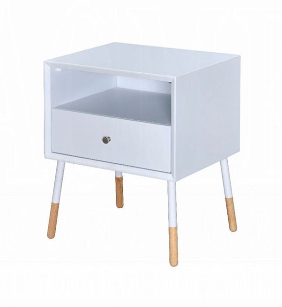 Acme Furniture Sonria II White Natural End Table ACM-84450