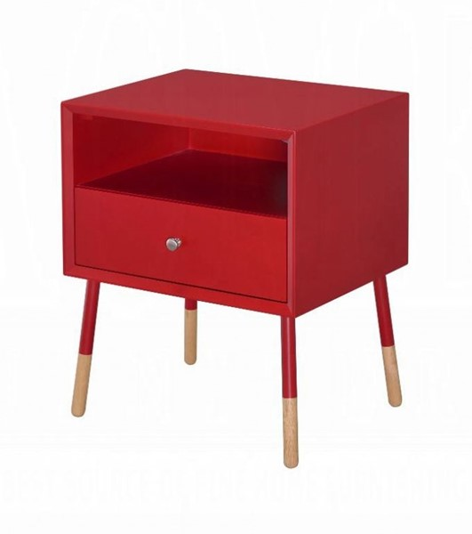 Acme Furniture Sonria II Red Natural End Table ACM-84451
