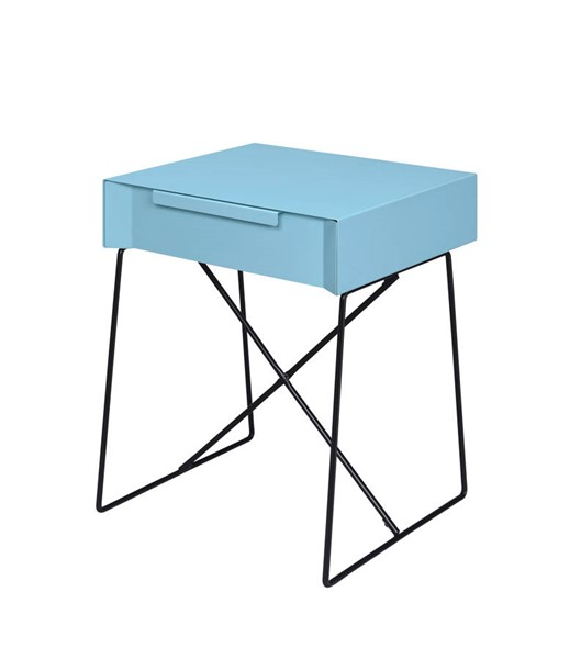 Acme Furniture Gualacao Light Blue End Table ACM-84458