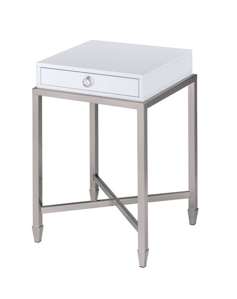 Acme Furniture Belinut White End Table ACM-84460