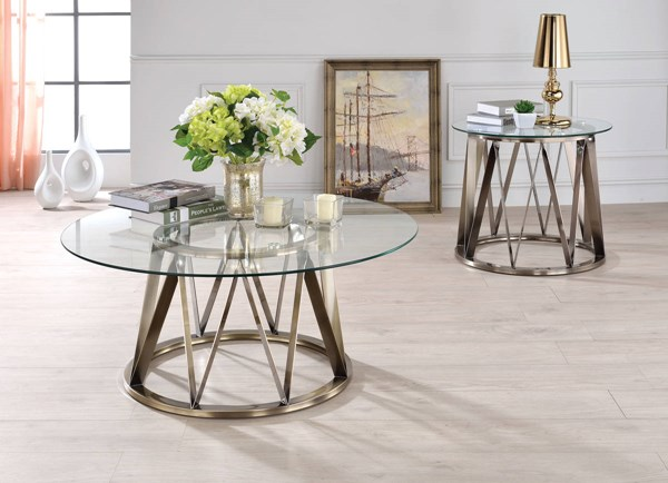 Acme Furniture Perjan Antique Clear 3pc Coffee Table Set ACM-8448-OCT-S1