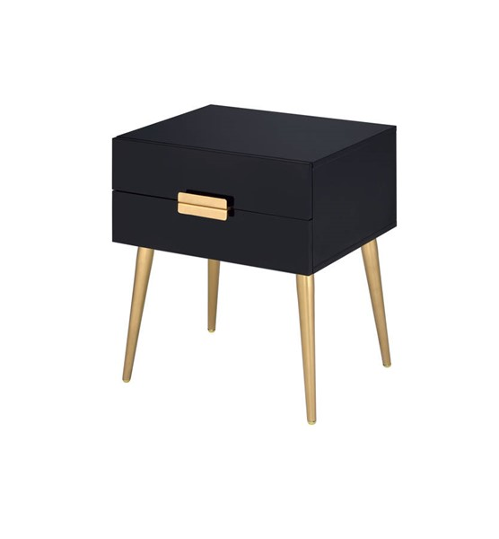 Acme Furniture Denvor Black Gold End Table ACM-84495
