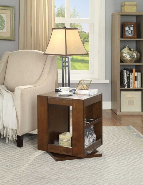 Acme Furniture Pisanio Espresso Swivel End Table ACM-84522