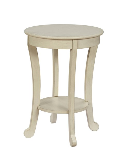 Acme Furniture Alysa III Antique White Round End Table ACM-84526