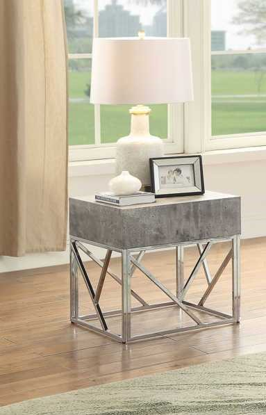 Acme Furniture Burgo Gray End Table ACM-84577