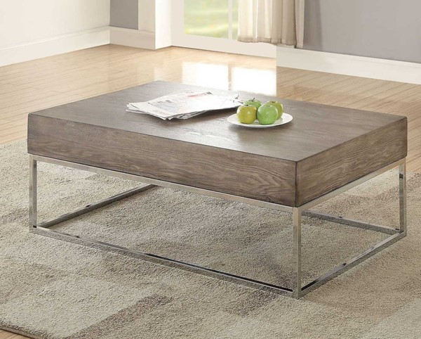 Acme Furniture Cecil II Gray Oak Coffee Table ACM-84580