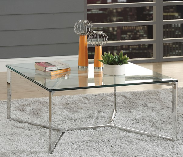 Acme Furniture Volusius Clear Coffee Table ACM-84605