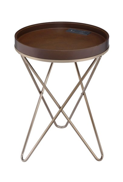 Acme Furniture Crary Champagne Side Table ACM-84651