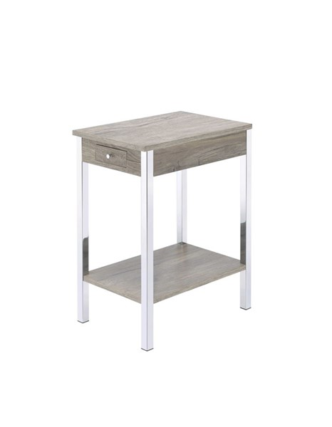 Acme Furniture Philo Gray Rectangle Side Table ACM-84653