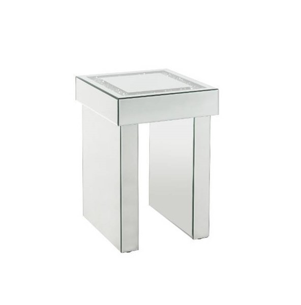 Acme Furniture Noralie Clear Sled Base End Table ACM-84702