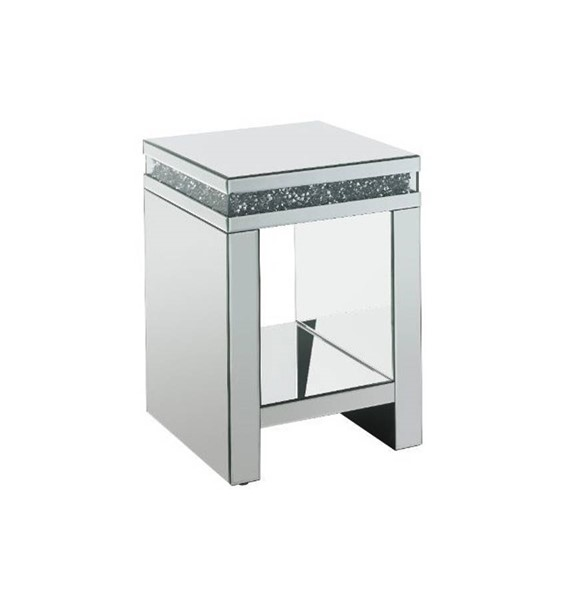 Acme Furniture Noralie Clear Glass Storage End Table ACM-84717