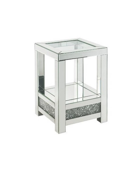 Acme Furniture Noralie Clear Square Storage End Table ACM-84722