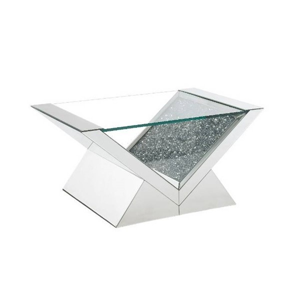 Acme Furniture Noralie Clear Solid Base Coffee Table ACM-84725