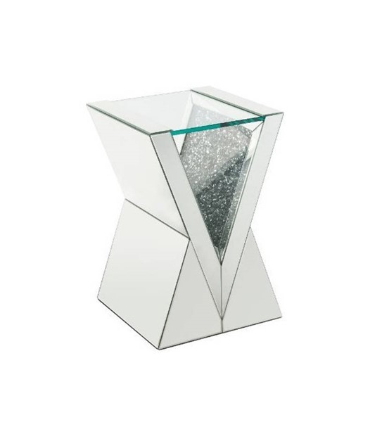 Acme Furniture Noralie Clear Solid Base End Table ACM-84727