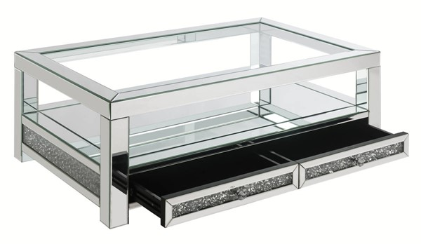 Acme Furniture Noralie Clear Legs Base Coffee Table ACM-84730