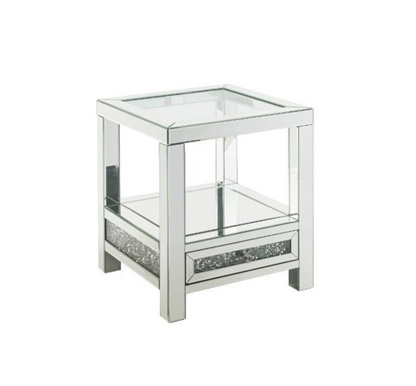 Acme Furniture Noralie Clear Legs Base End Table ACM-84732