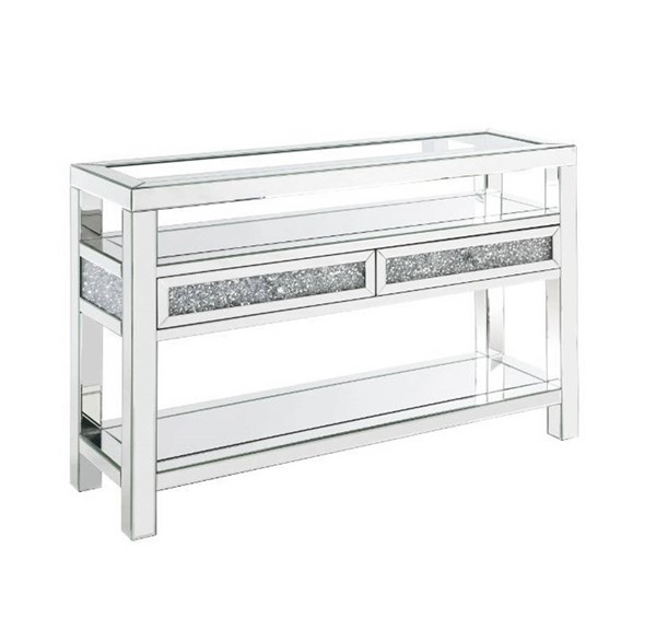 Acme Furniture Noralie Clear Legs Base Sofa Table ACM-84733