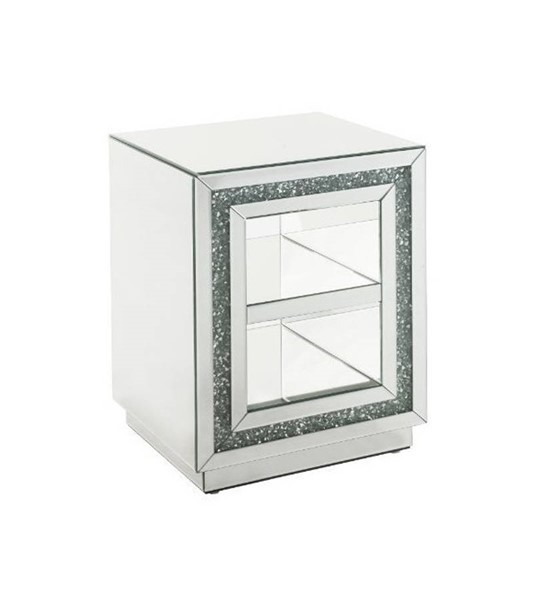 Acme Furniture Noralie Clear Storage Rectangle End Table ACM-84737