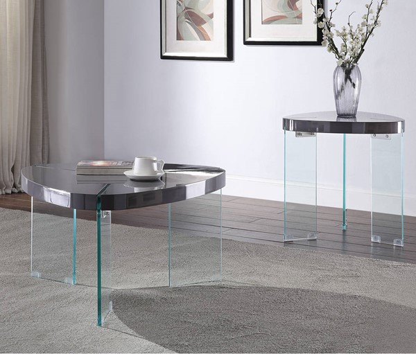 Acme Furniture Noland Gray Clear 3pc Coffee Table Set ACM-8491-OCT-S1