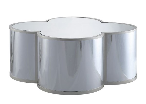 Acme Furniture Clover Silver Champagne Coffee Table ACM-85395