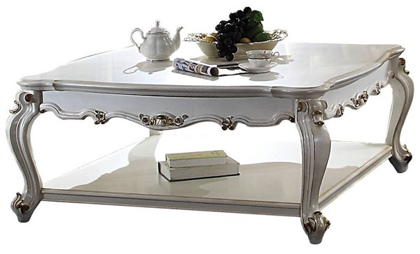 Acme Furniture Picardy Antique Pearl Square Coffee Table ACM-85460