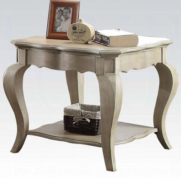 Acme Furniture Chelmsford Antique Taupe End Table ACM-86052