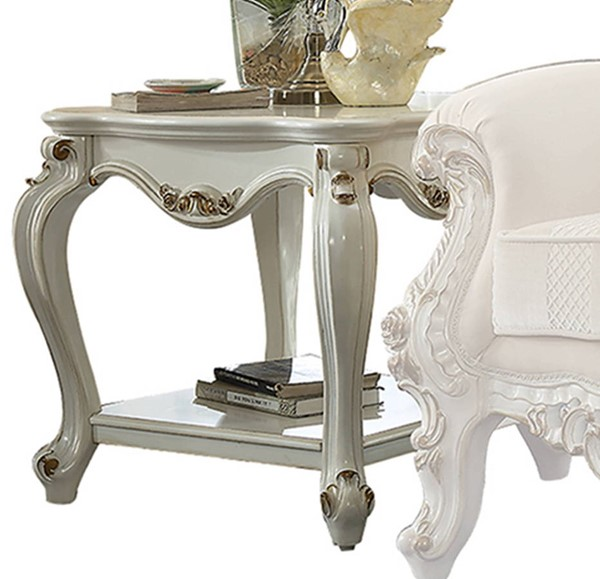 Acme Furniture Picardy II Antique Pearl End Table ACM-86882