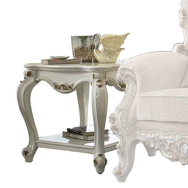 Acme Furniture Picardy Antique Pearl End Table ACM-86882