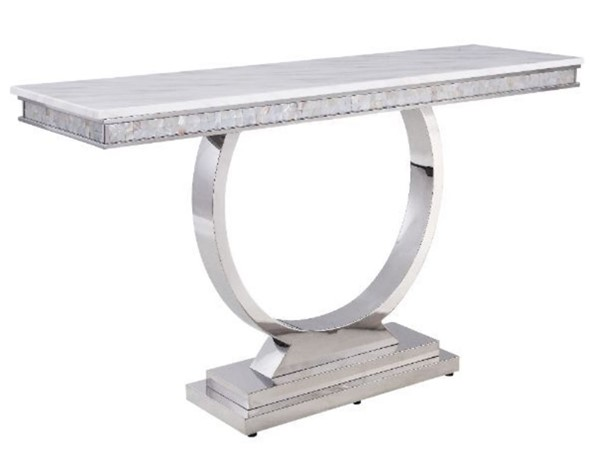 Acme Furniture Zander White Sofa Table ACM-87359
