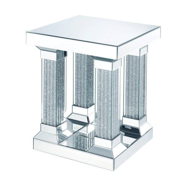 Acme Furniture Caesia Mirrored End Table ACM-87907