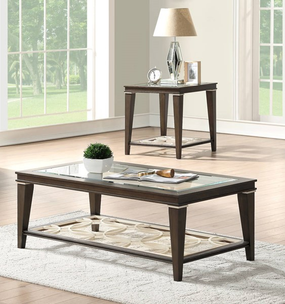 Acme Furniture Peregrine Walnut 3pc Coffee Table Set ACM-8799-OCT-S1
