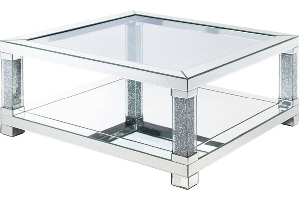 Acme Furniture Noralie Clear Storage Square Coffee Table ACM-87995