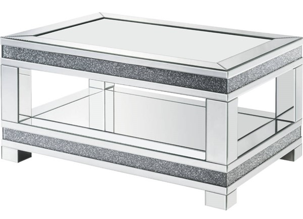 Acme Furniture Noralie Clear Glass Legs Base Coffee Table ACM-88020