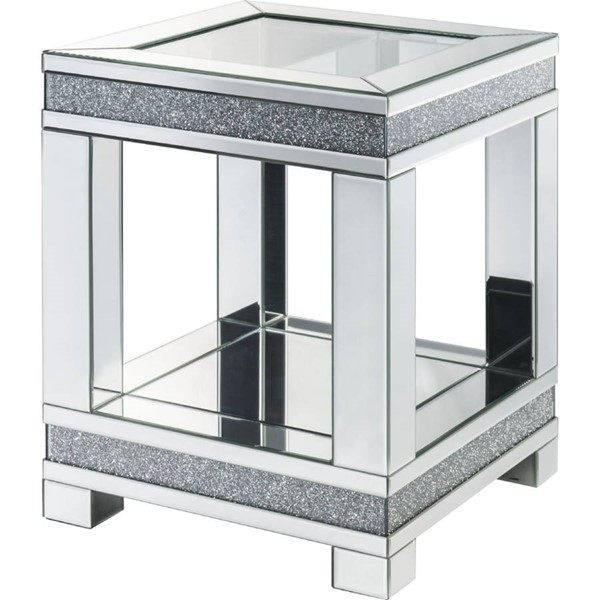 Acme Furniture Noralie Clear Glass Legs Base End Table ACM-88022