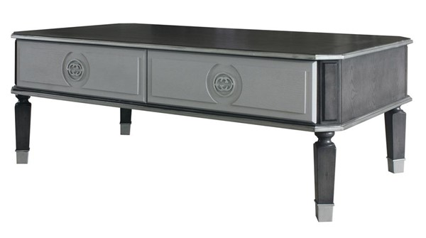 Acme Furniture House Beatrice Charcoal Light Gray Coffee Table ACM-88815
