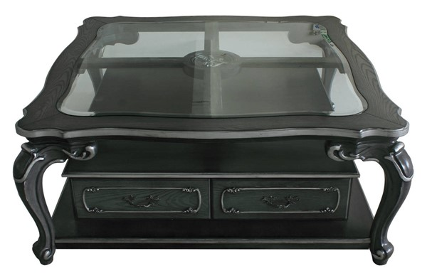 Acme Furniture House Delphine Charcoal Square Coffee Table ACM-88830