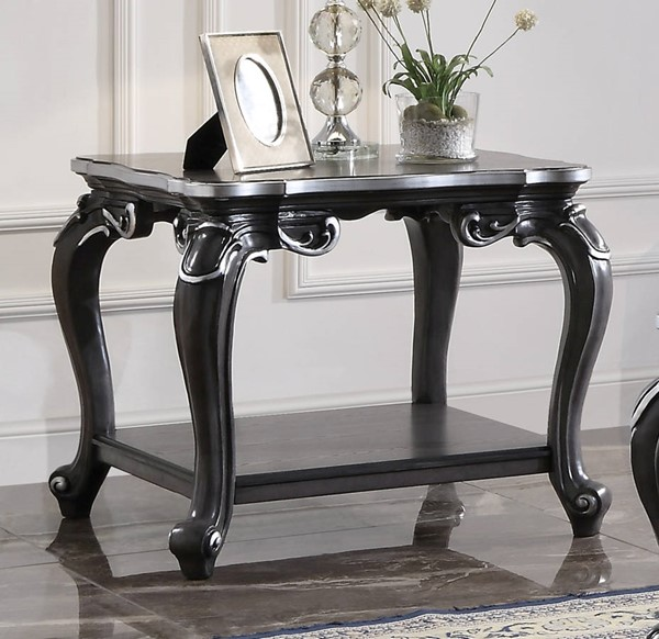 Acme Furniture House Delphine Charcoal End Table ACM-88832