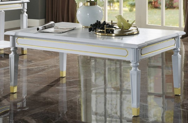 Acme Furniture House Marchese Pearl Gray Coffee Table ACM-88865